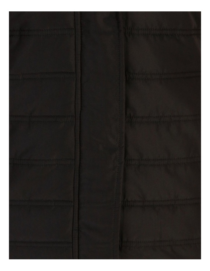 Burnished Rib Side & Sleeve Quilted Jacket With Hood image 5