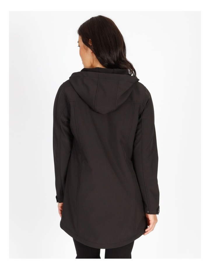 Olive Grove Shower Proof Princess Seam Hooded Jacket image 3