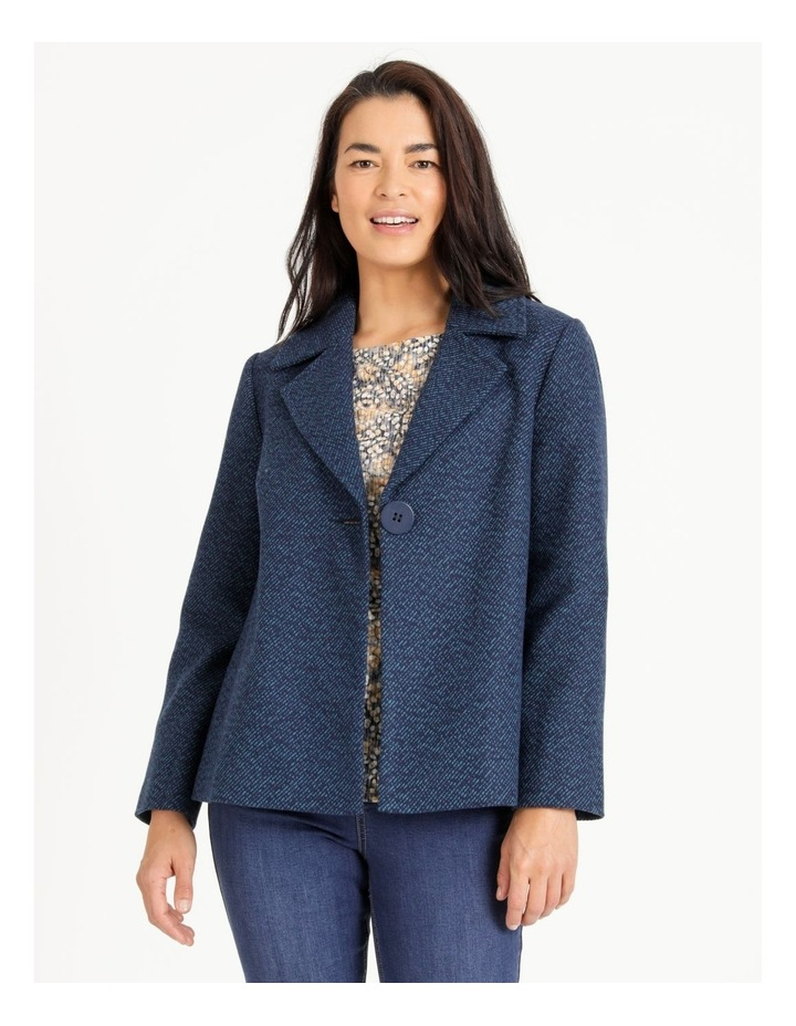Mottled Marble Jacket With Lapels And Collar image 1