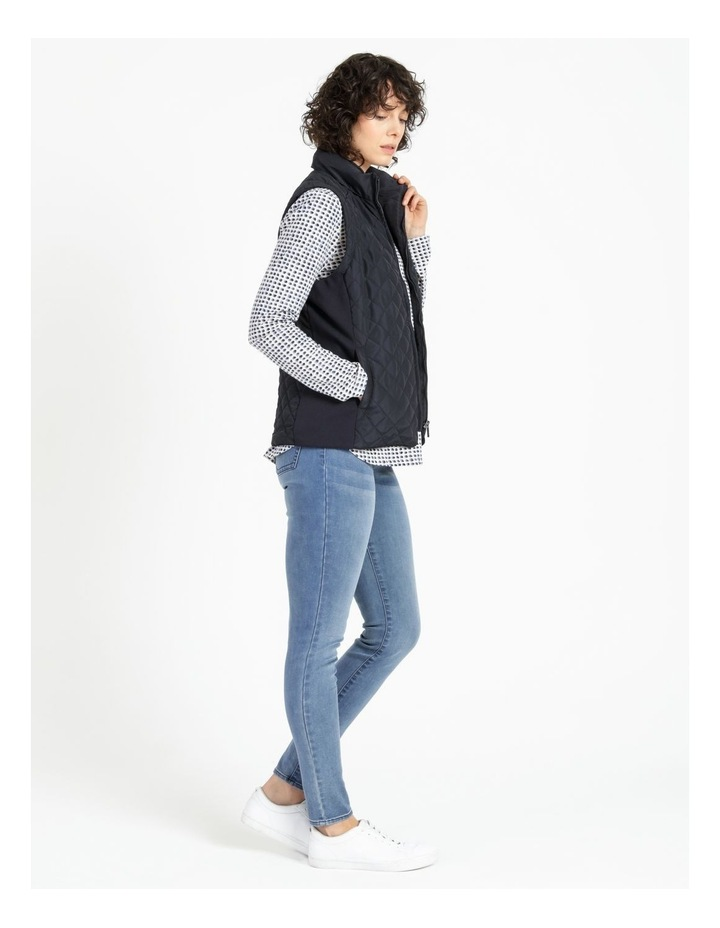 Diamond Quilted Vest With Rib Sides image 2