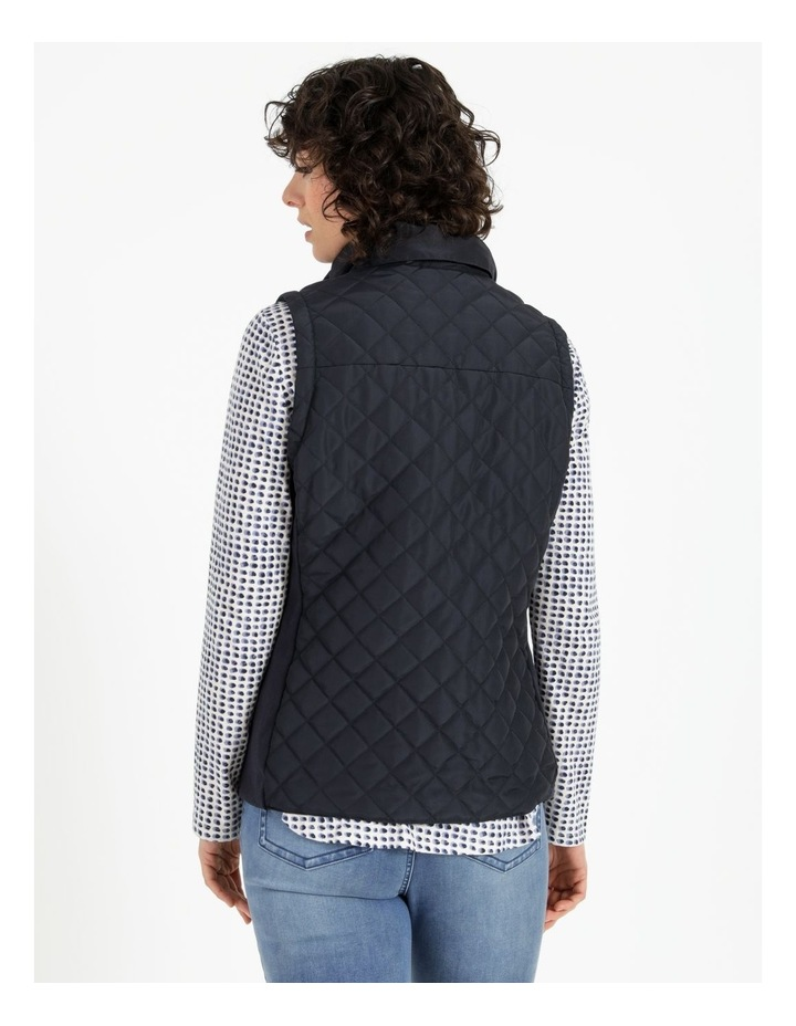 Diamond Quilted Vest With Rib Sides image 3