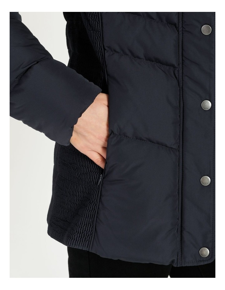 Puffer Jacket With Shirred Panels & Fold Out Hood image 6