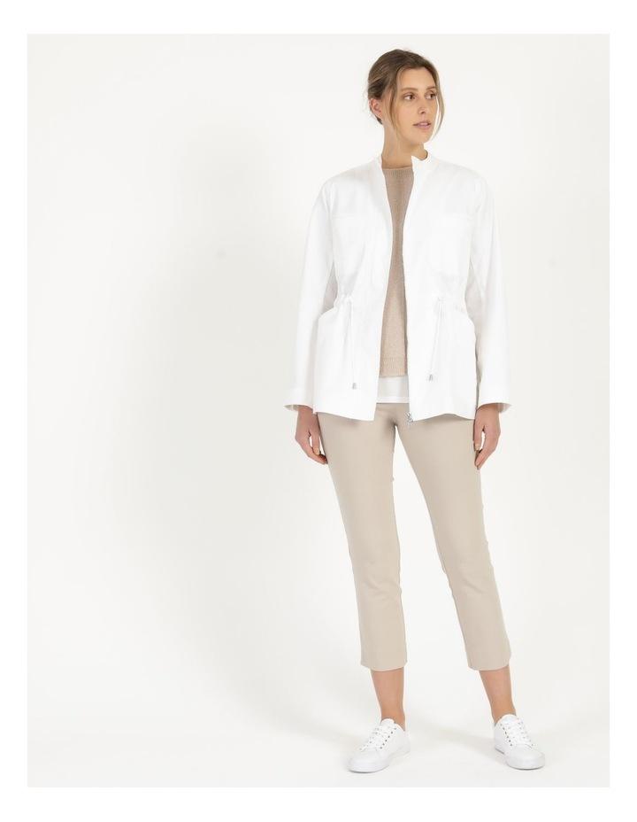 Long Sleeve Light Weight Utility Jacket White image 1