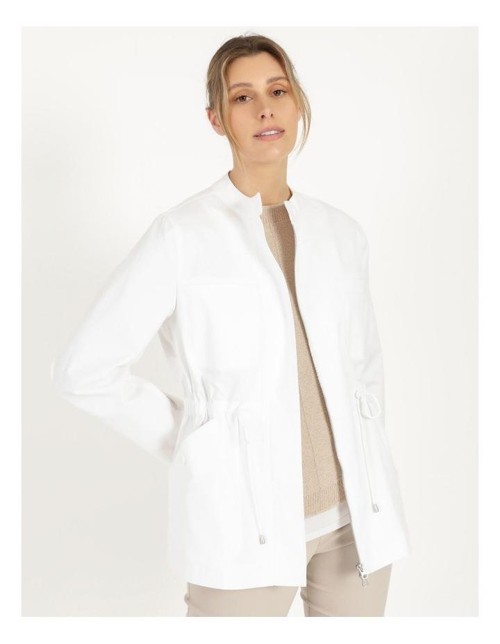 Long Sleeve Light Weight Utility Jacket White image 2