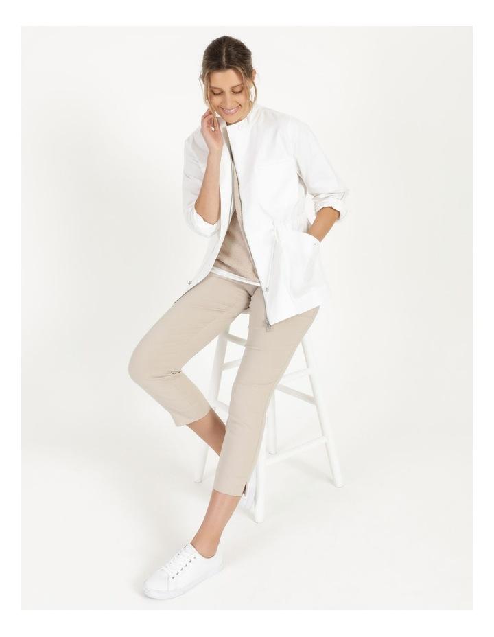 Long Sleeve Light Weight Utility Jacket White image 3