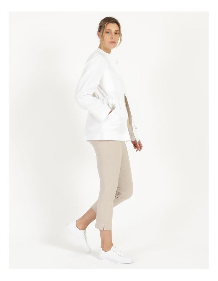 Long Sleeve Light Weight Utility Jacket White image 4