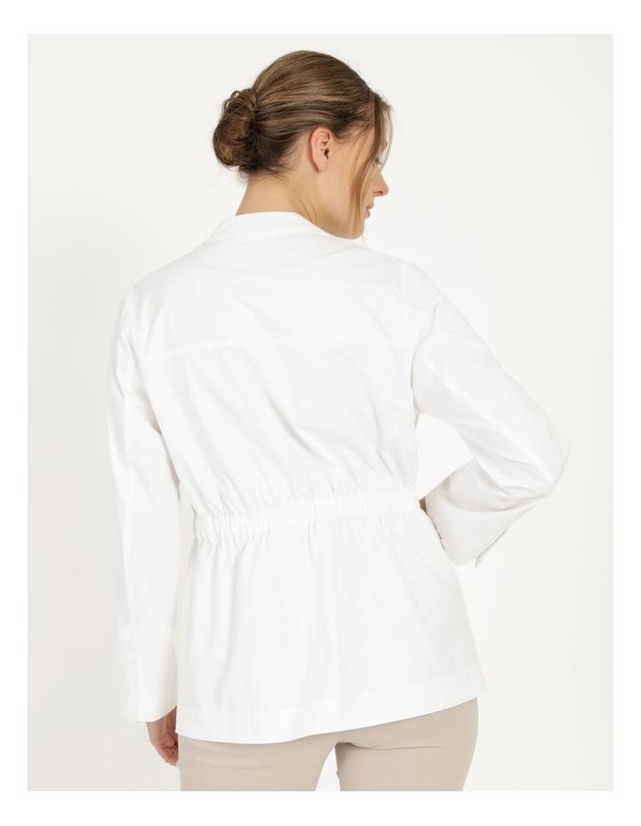 Long Sleeve Light Weight Utility Jacket White image 5