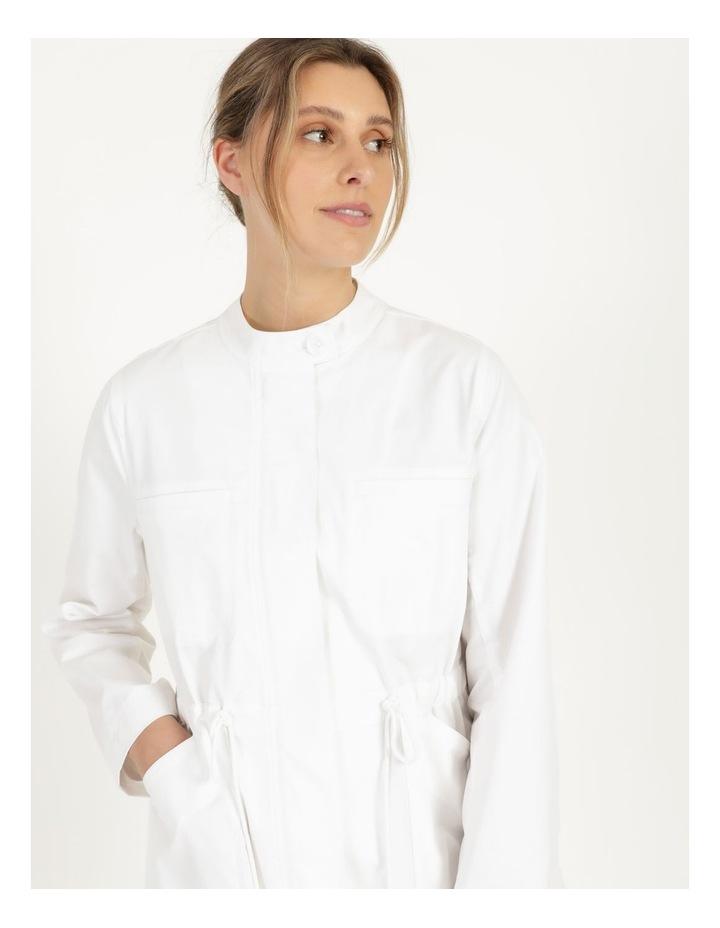 Long Sleeve Light Weight Utility Jacket White image 6