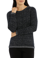 Regatta Petites - Must Have Metallic Cable Long Sleeve Jumper