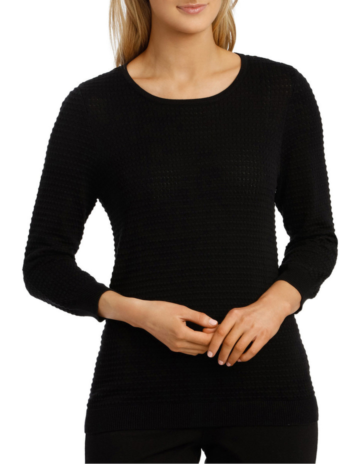 Must Have Circle Textured 3/4 Slv Jumper image 1