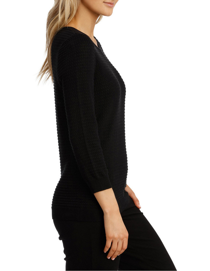 Must Have Circle Textured 3/4 Slv Jumper image 2