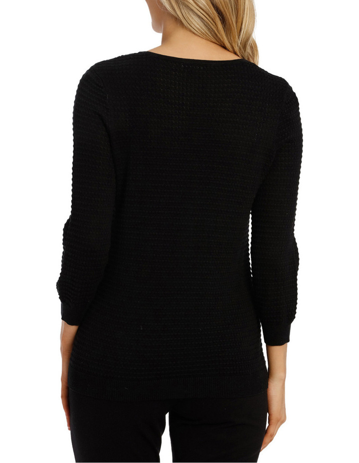 Must Have Circle Textured 3/4 Slv Jumper image 3
