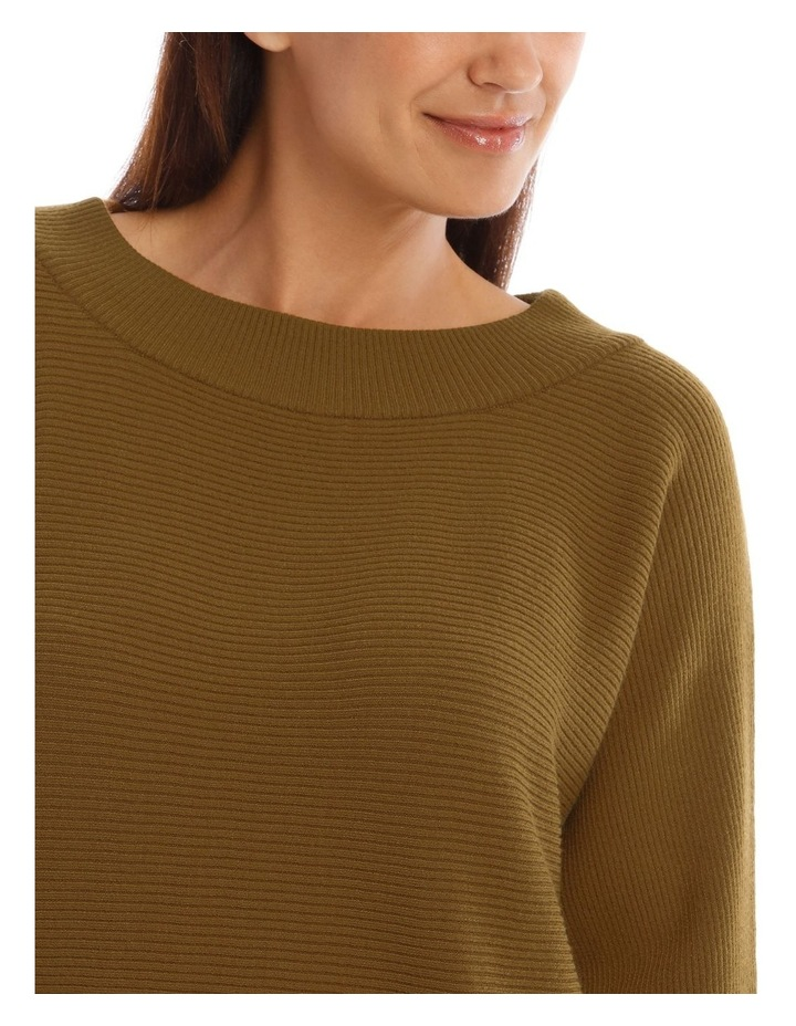 Wide Rib Boat Neck 3/4 Sleeve Jumper image 4