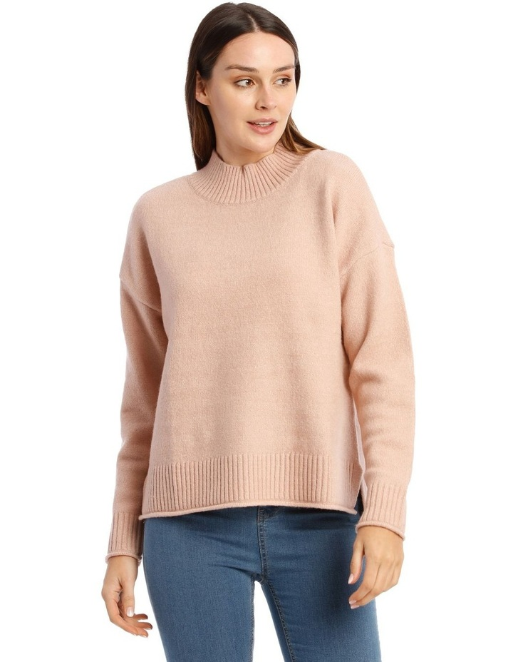 Stand Collar Soft Long Sleeve Jumper image 1