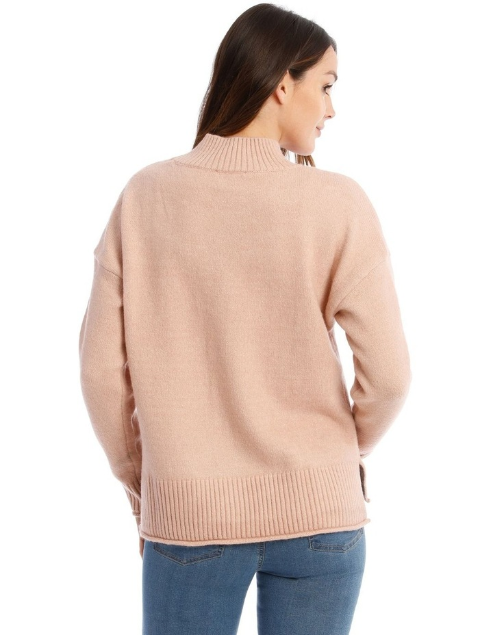 Stand Collar Soft Long Sleeve Jumper image 3