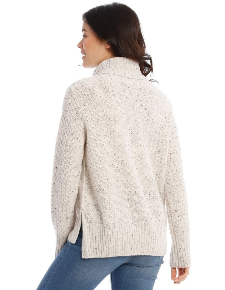 Confluence Roll Neck Jumper With Side Rib, Cf Seam And Side Splits image 3