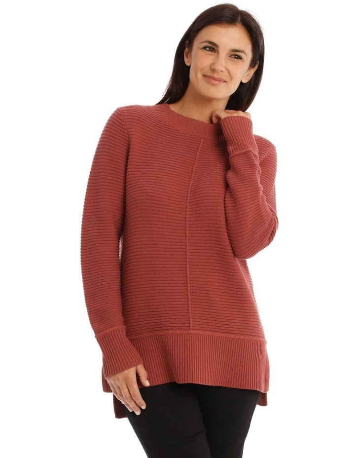Stand Neck Seam Detail Long Sleeves Jumper image 1