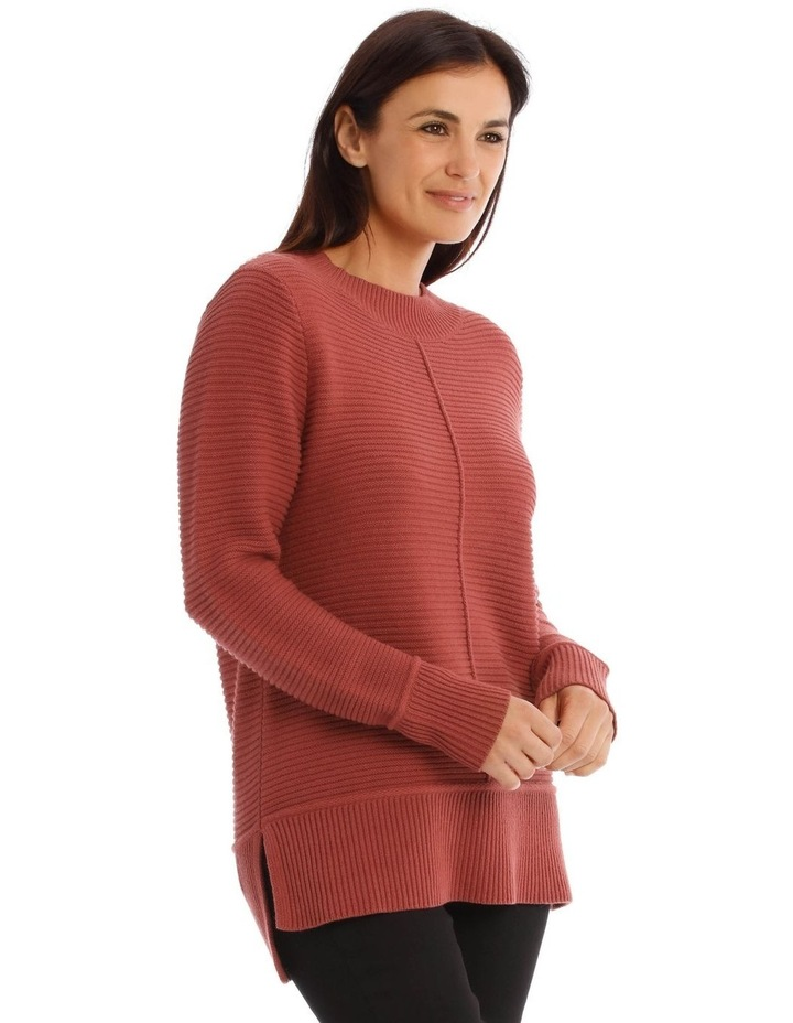 Stand Neck Seam Detail Long Sleeves Jumper image 2