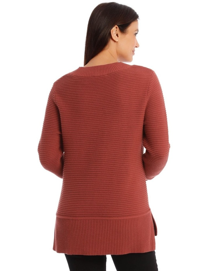Stand Neck Seam Detail Long Sleeves Jumper image 3