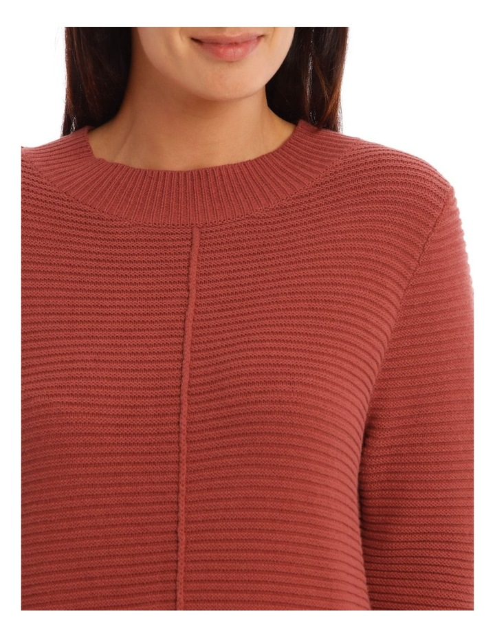 Stand Neck Seam Detail Long Sleeves Jumper image 4