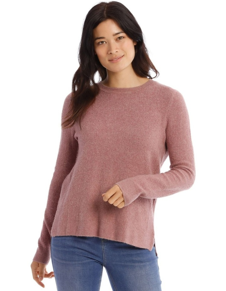 Confluence Crew Neck Long Sleeve Jumper With Fancy Stitch Side Seams image 1