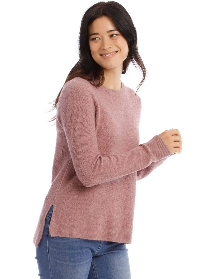 Confluence Crew Neck Long Sleeve Jumper With Fancy Stitch Side Seams image 2