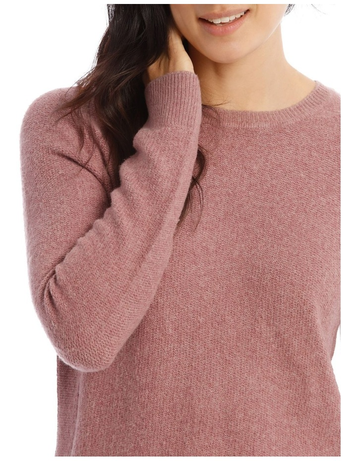 Confluence Crew Neck Long Sleeve Jumper With Fancy Stitch Side Seams image 4