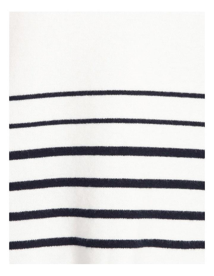 Still Life Crew Neck Long Sleeve Stripe Hem Jumper With Tipping Cuff image 5