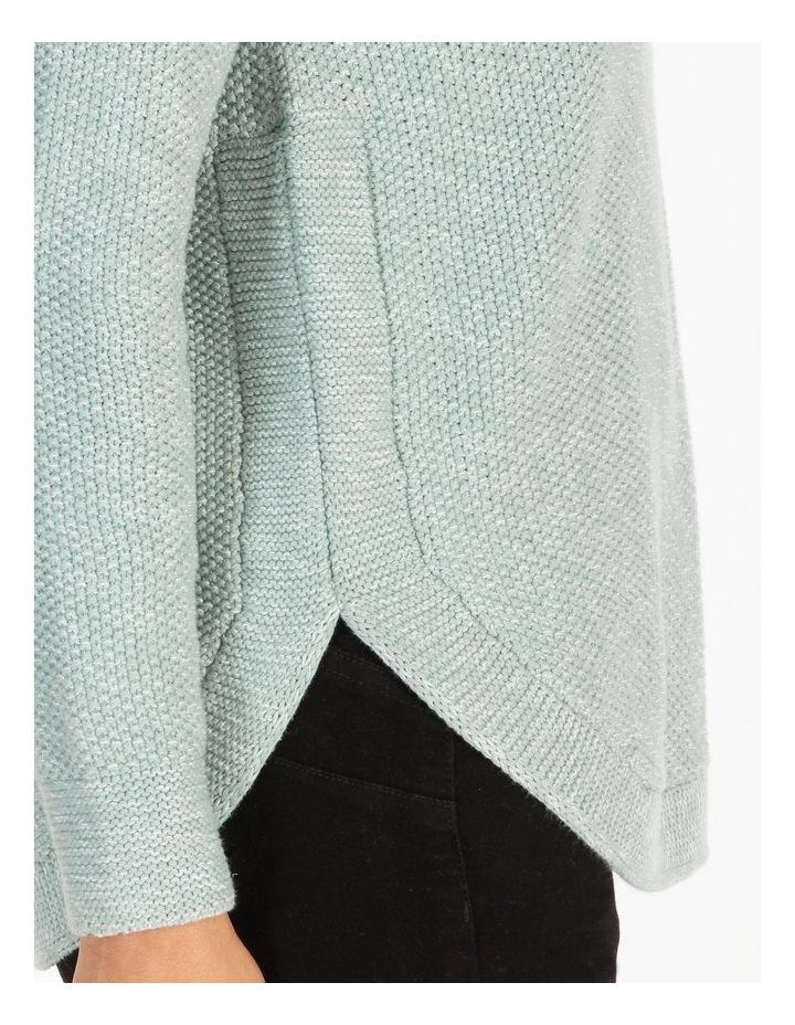 Lake's Edge Fancy Knit Front Curved Hem Long Sleeve Jumper image 4