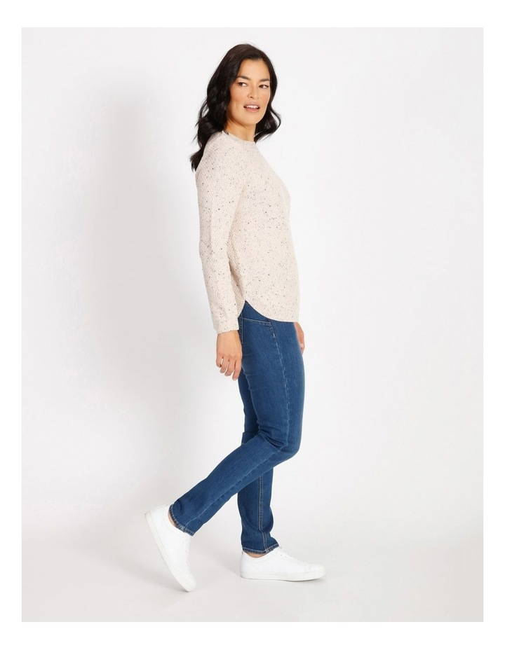 Lake's Edge Button Shoulder Long Sleeve Jumper With Curved Hem image 2