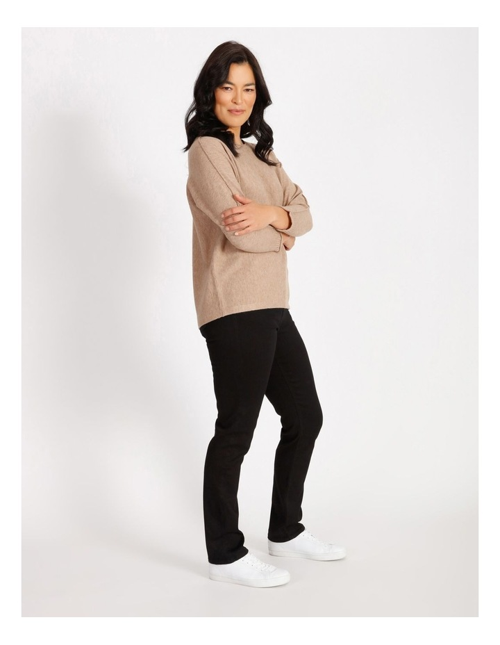 Olive Grove Magar 3/4 Sleeve Jumper With Exposed Seam image 2