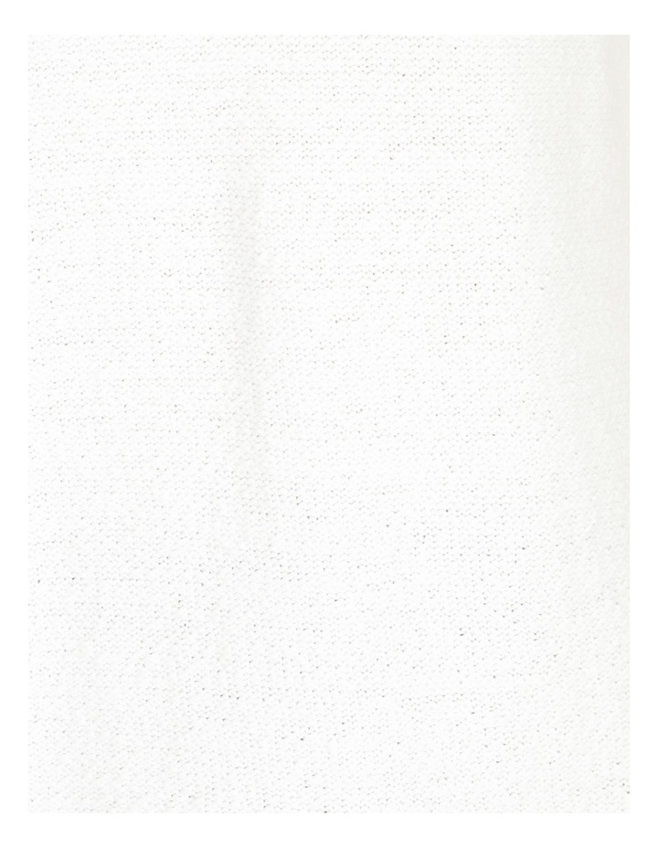 Curved Hem Jumper With Pointelle At Armhole-Ivory image 5