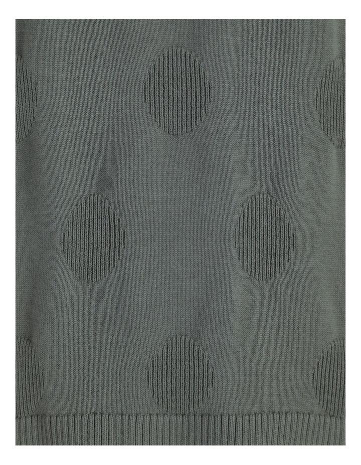 Pillar & Pine Crew Neck Textured Spot Long Sleeve Jumper image 7