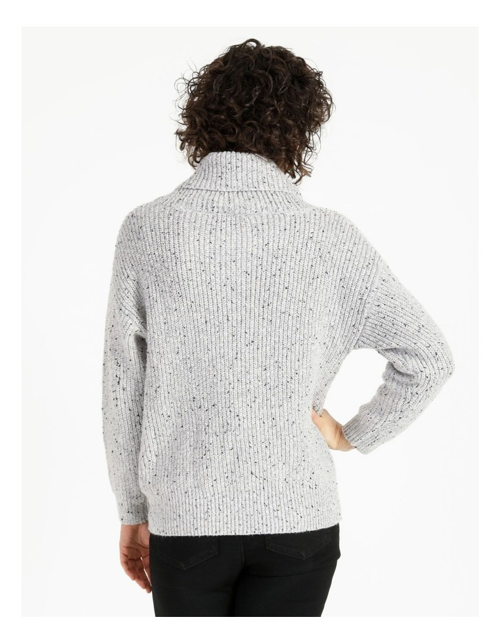Kindled Wide Cable Front Long Sleeve Jumper With Cowl Neck image 3