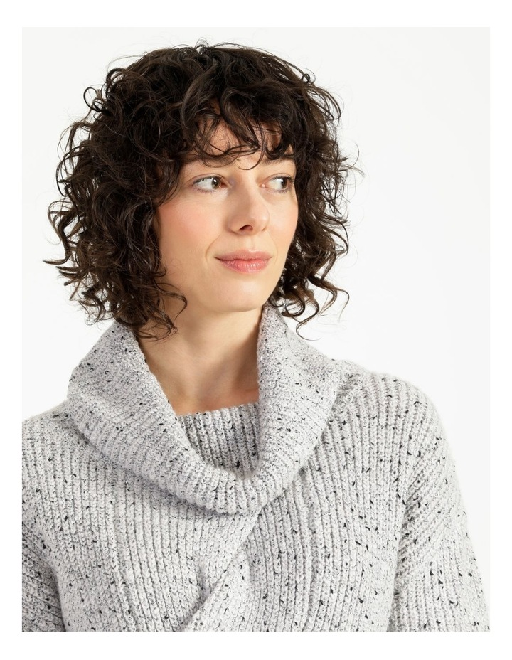 Kindled Wide Cable Front Long Sleeve Jumper With Cowl Neck image 5