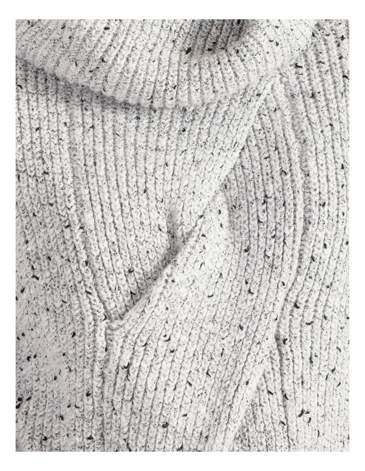 Kindled Wide Cable Front Long Sleeve Jumper With Cowl Neck image 6