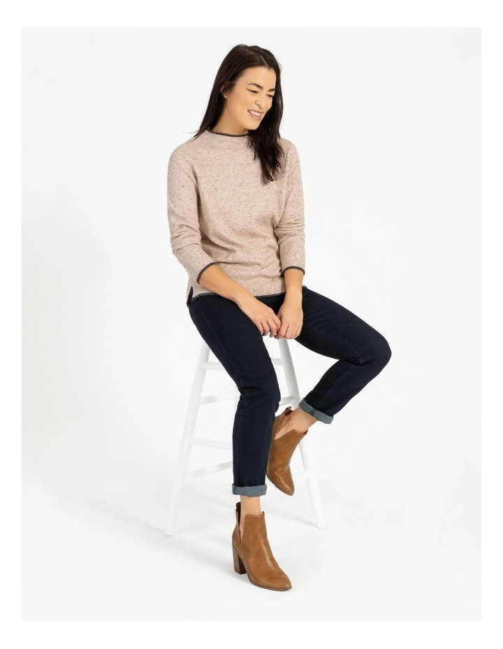 Pillar & Pine Stand Neck Jumper With Contrast Tipping image 2