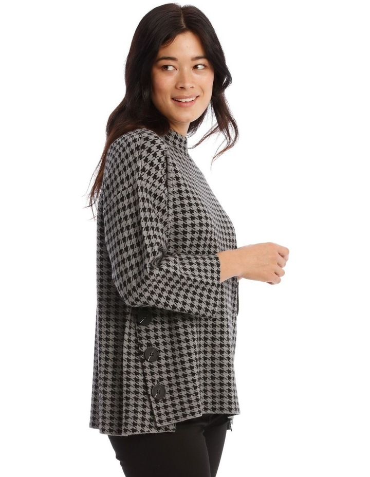Button Side Stand Collar Long Sleeve Jumper image 3