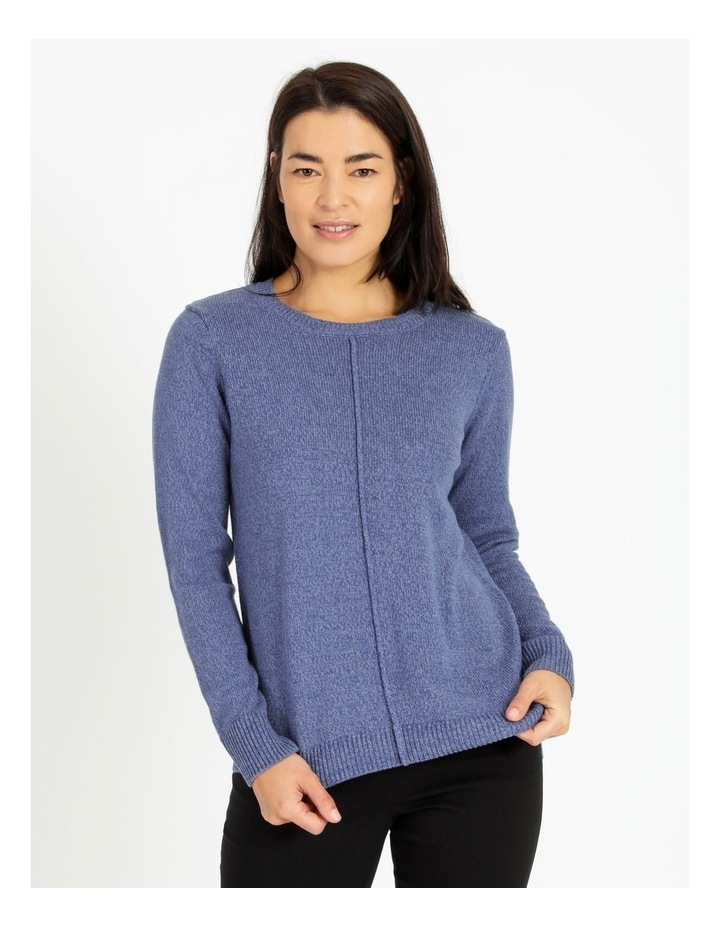 Crew Neck Long Sleeve Jumper With Centre Front Seam image 1