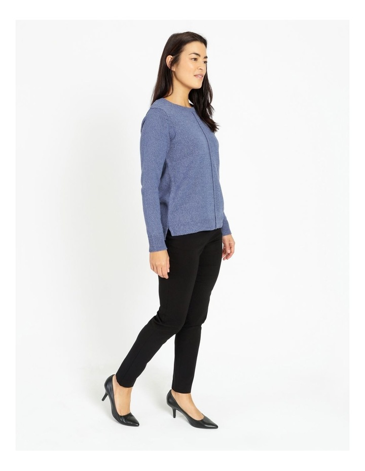 Crew Neck Long Sleeve Jumper With Centre Front Seam image 2
