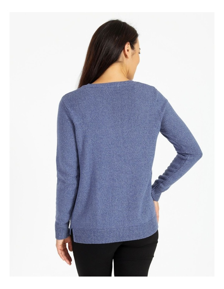 Crew Neck Long Sleeve Jumper With Centre Front Seam image 3