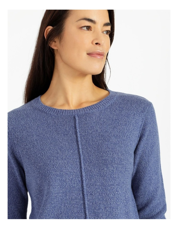 Crew Neck Long Sleeve Jumper With Centre Front Seam image 4