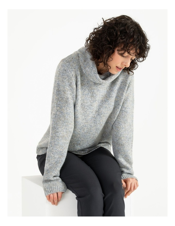 Cowl Neck Long Sleeve Jumper With Curved Hem image 4