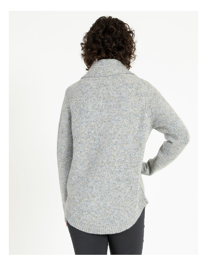 Cowl Neck Long Sleeve Jumper With Curved Hem image 5