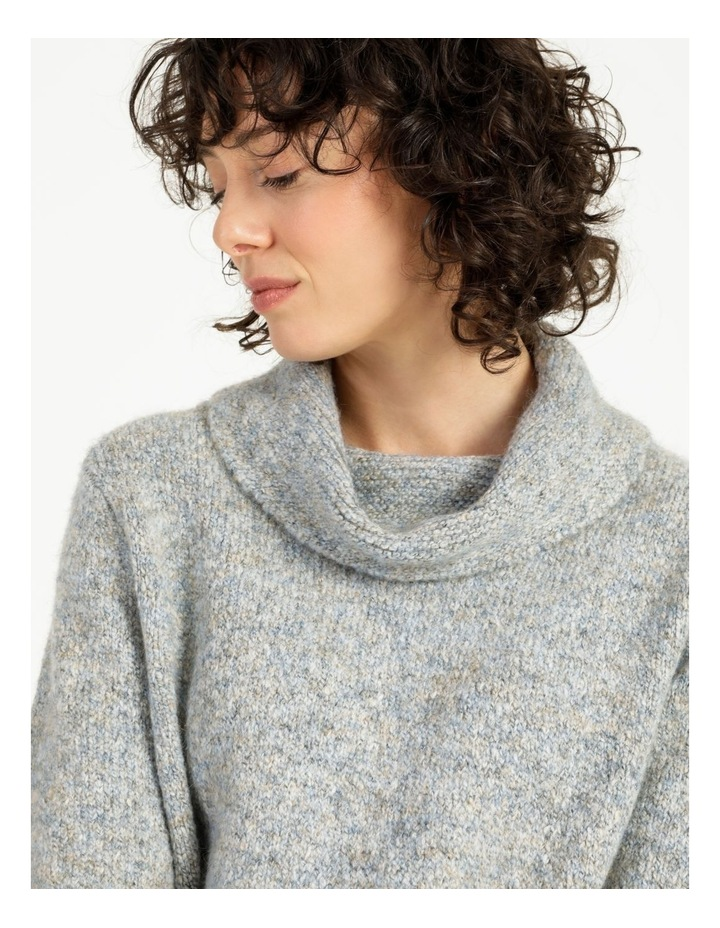 Cowl Neck Long Sleeve Jumper With Curved Hem image 6