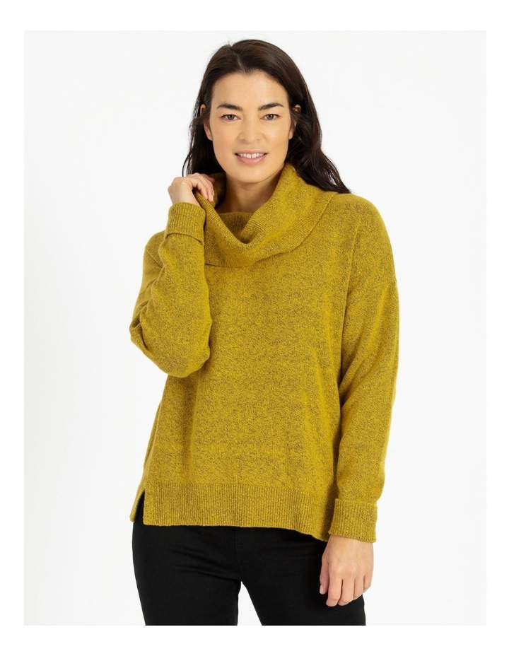 Cowl Neck Long Sleeve Jumper With Fold Back Cuff image 1