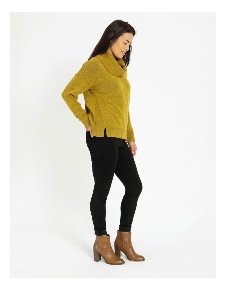 Cowl Neck Long Sleeve Jumper With Fold Back Cuff image 2