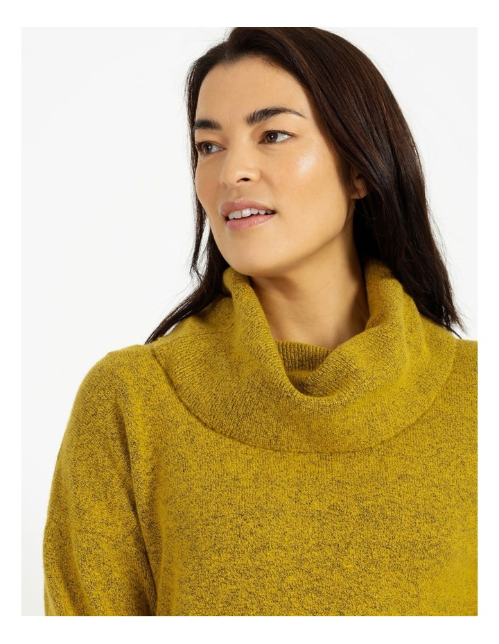 Cowl Neck Long Sleeve Jumper With Fold Back Cuff image 4