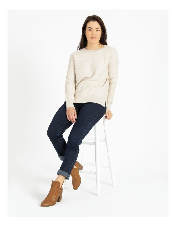 Diagonal With Side Spits Knit Jumper Neutral image 2