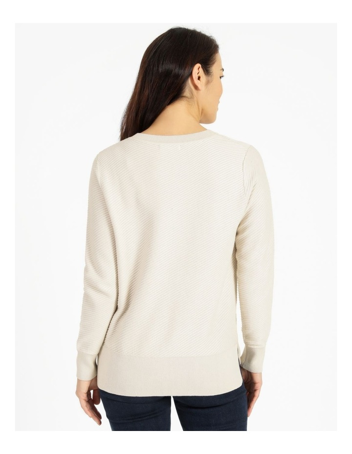 Diagonal With Side Spits Knit Jumper Neutral image 3